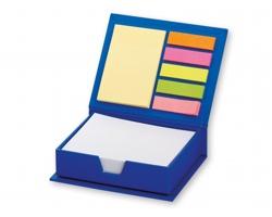 Set lepicích papírků MEMO v papírové krabičce, 264ks - modrá