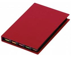 Sada barevných lepicích papírků HEDVIKA v papírovém obalu - červená