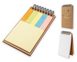 Poznámkový blok OKI s lepicími papírky - přírodní