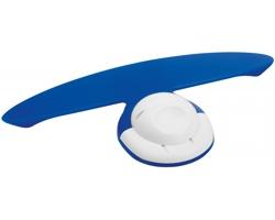 Plastový držák poznámek a pera NIFTY s magnetem - modrá