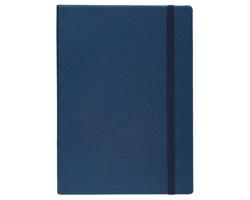Poznámkový zápisník s gumičkou COLOR NOTE II - modrá