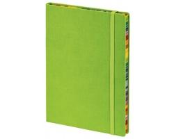 Poznámkový zápisník s gumičkou COLOR NOTE II - světle zelená