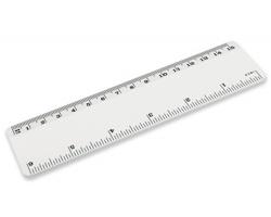 Plastové pravítko CALLEN, délka 15 cm - bílá
