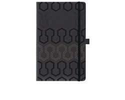 Poznámkový blok PISTONS s gumičkou, formát A5 - černá