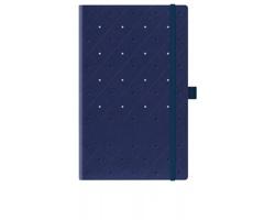 Poznámkový zápisník s gumičkou SPOTTY SKY, formát A5 - modrá