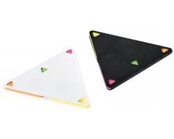 Sada barevných lepicích papírků TRIANGULOS ve tvaru trianglu - černá