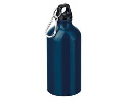 Kovová outdoorová láhev BARAC s karabinou, 500ml - tmavě modrá