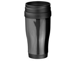 Plastový termohrnek MARIO, 400 ml - černá