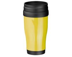 Plastový termohrnek MARIO, 400 ml - žlutá
