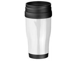 Plastový termohrnek MARIO, 400 ml - bílá