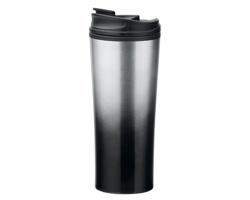Nerezový termohrnek IGOR s plastovým víčkem , 470 ml - černá