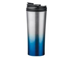 Nerezový termohrnek IGOR s plastovým víčkem, 470 ml - modrá