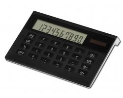 Plastová kalkulačka LUSETTE - černá