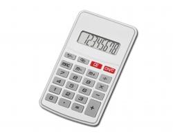 Plastová kalkulačka JASPER - saténově stříbrná