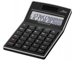 Plastová kalkulačka KALEB - černá