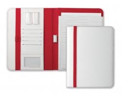 Konferenční desky TEREUS, A4 s blokem - bílá