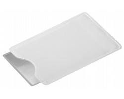 Plastová lupa HILDA v obalu - bílá