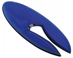 Plastový otvírač na dopisy LETTER - transparentní modrá