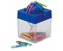Plastová krabička s magnetem CLIPBOX na kancelářské sponky - královská modrá