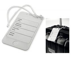 Plastová jmenovka na zavazadlo LENARD - bílá
