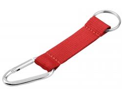 Textilní přívěšek ZOLA s karabinou - červená