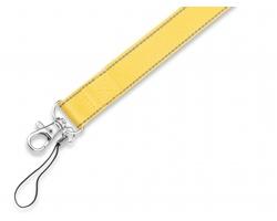Šňůrka na krk REFLEXO s karabinou a poutkem - žlutá