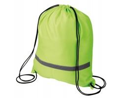 Polyesterový batoh SAFER s reflexním pruhem - fluorescenční zelená