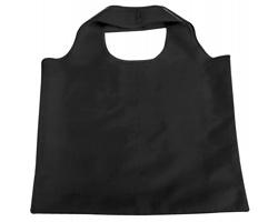 Skládací polyesterová nákupní taška FOLA - černá