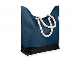Polyesterová plážová taška KENZA - modrá