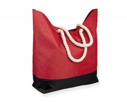 Polyesterová plážová taška KENZA - červená