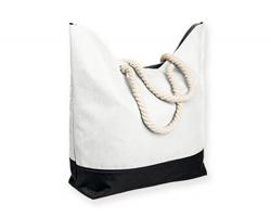 Polyesterová plážová taška KENZA - bílá