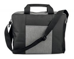 Polyesterová taška na dokumenty SADIE s ramenním popruhem - světle šedá