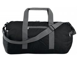 Skládací sportovní taška JOSIE s ramenním popruhem - černá