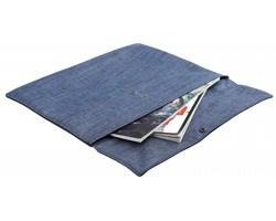 Polyesterová taška na dokumetny PRESTON s drukem - modrý melír