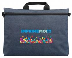 Polyesterová taška na dokumenty MILO s hlavní kapsou na zip - modrá