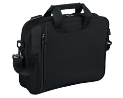 Polyesterová taška na dokumenty GARBI s ramenním popruhem - černá