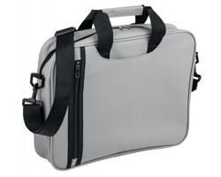 Polyesterová taška na dokumenty GARBI s ramenním popruhem - světle šedá
