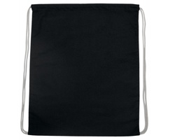 Bavlněný batoh SAC na stahovací šňůrky - černá