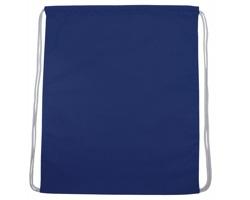 Bavlněný batoh SAC na stahovací šňůrky - modrá