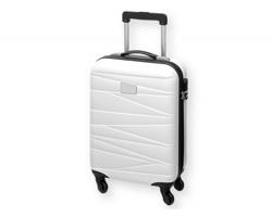 Cestovní kufr na kolečkách TROLLEY s teleskopickým madlem - bílá