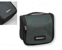 Značková polyesterová kosmetická taška Swissbags DULCIE - šedý melír