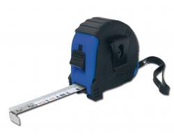 Svinovací metr LAURER s klipem a poutkem, 3m - královská modrá