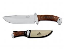 Nerezový lovecký nůž Beaver NORRIS v pouzdru - přírodní
