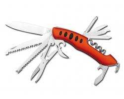 Nerezový kapesní nůž Beaver JACK, 11 funkcí - oranžová