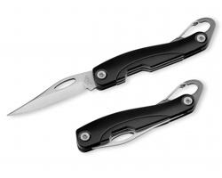 Kapesní nůž Beaver CARABINER s karabinou - černá