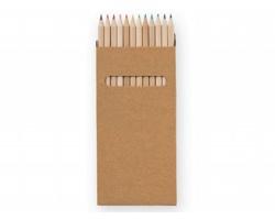 Sada dřevěných pastelek PINTER v papírové krabičce, 12ks