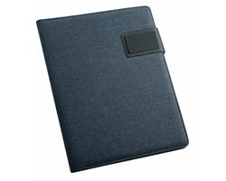 Konferenční desky z imitace kůže SIARGAO, formát A5 - modrá