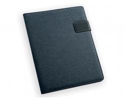 Konferenční desky z imitace kůže a plátna SABANG s linkovaným blokem, formát A4 - modrá