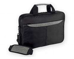 Polyesterová taška na notebook HIDEA DESIGN BRIDGE - šedý melír