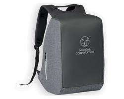 Polyesterový batoh SARGON s nepromokavou vrstvou - šedý melír